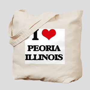 I love Peoria Illinois Tote Bag