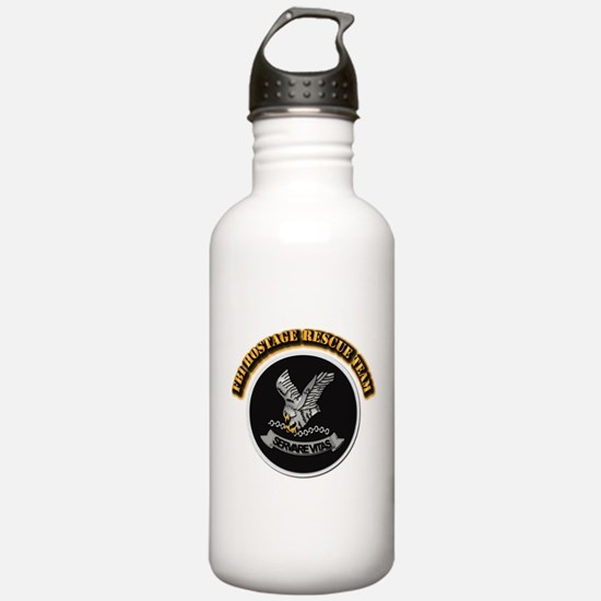 FBI HRT with Text Water Bottle