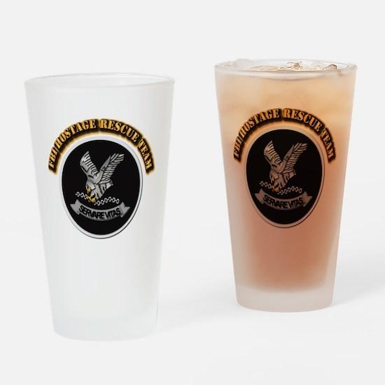 FBI HRT with Text Drinking Glass