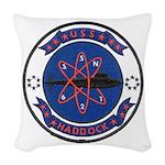 USS HADDOCK Woven Throw Pillow