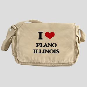 I love Plano Illinois Messenger Bag