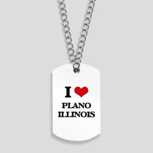 I love Plano Illinois Dog Tags