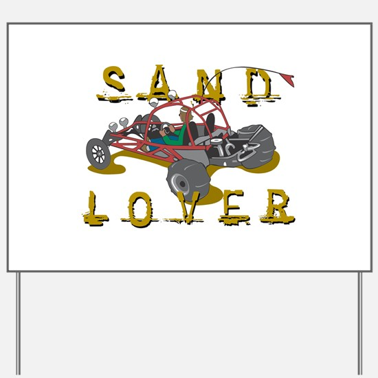 Sand Lover Dune Buggy Yard Sign