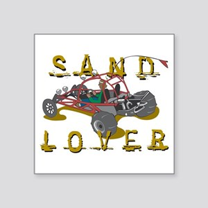 """Sand Lover Dune Buggy Square Sticker 3"""" x 3"""""""