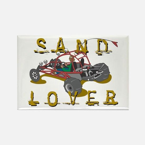 Sand Lover Dune Buggy Rectangle Magnet