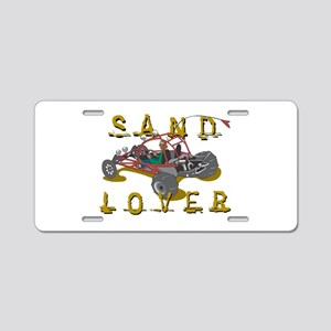 Sand Lover Dune Buggy Aluminum License Plate