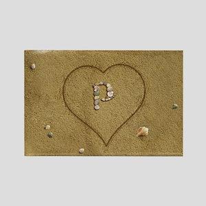 P Beach Love Rectangle Magnet
