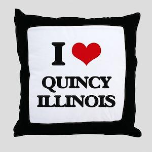 I love Quincy Illinois Throw Pillow