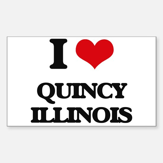 I love Quincy Illinois Decal
