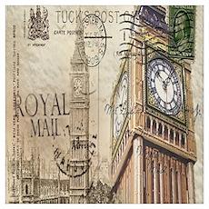 vintage london big ben Poster