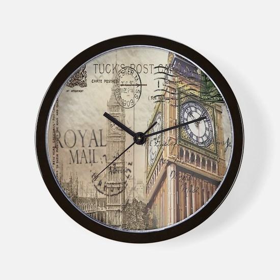 vintage london big ben Wall Clock