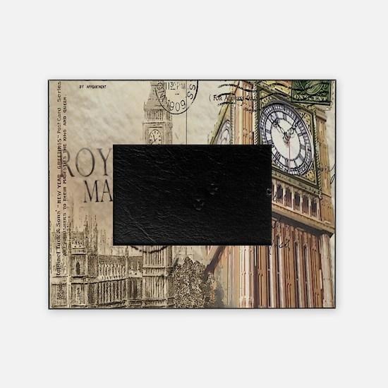 vintage london big ben Picture Frame