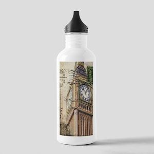 vintage london big ben Stainless Water Bottle 1.0L