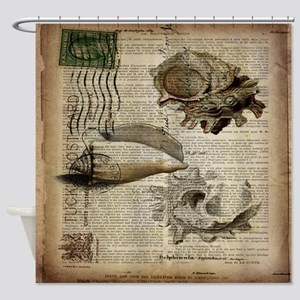 coastal beach sea shells Shower Curtain