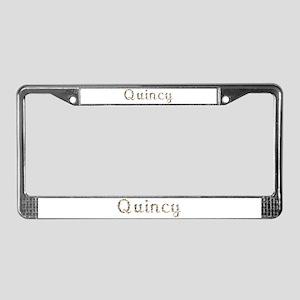 Quincy Seashells License Plate Frame