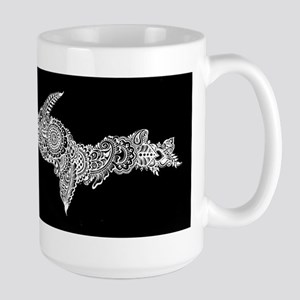 Michigan's Upper Peninsula white-on-black Mugs