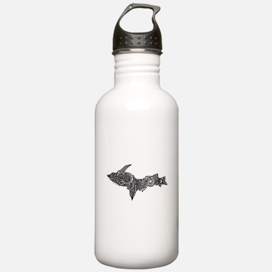 Mehndi Upper Peninsula UP by Kris Water Bottle