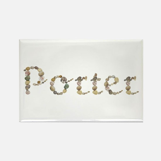 Porter Seashells Rectangle Magnet