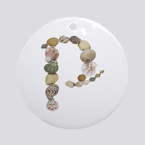 P Seashells Round Ornament