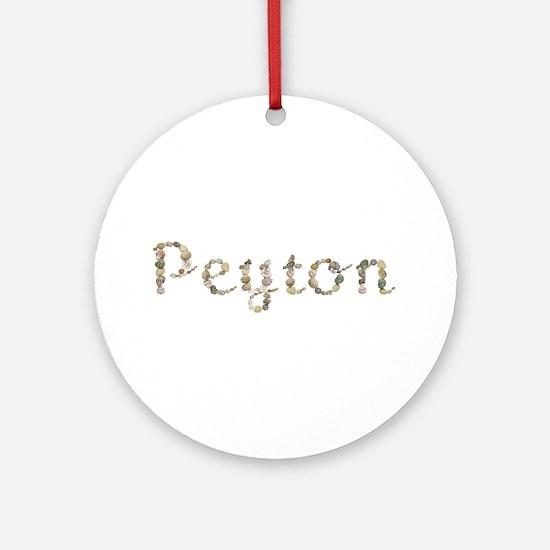 Peyton Seashells Round Ornament