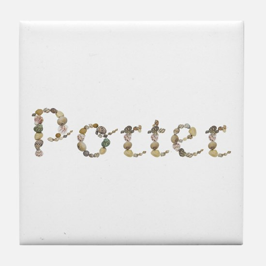 Porter Seashells Tile Coaster