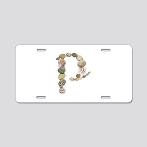 P Seashells Aluminum License Plate
