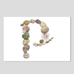 P Seashells Postcards 8 Pack