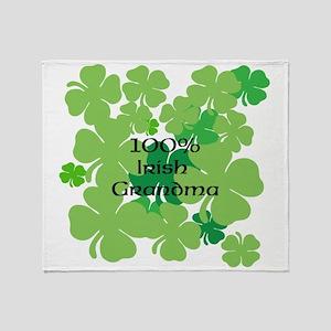 100% Irish Grandma Throw Blanket