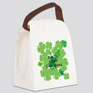 100% Irish Grandma Canvas Lunch Bag