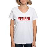 Member (red) Women's V-Neck T-Shirt