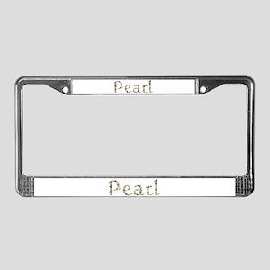 Pearl Seashells License Plate Frame