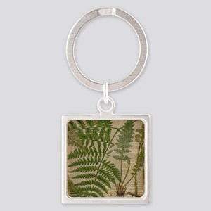 botanical fern leaves Square Keychain