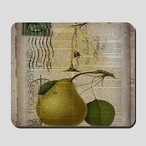 botanical vintage pear  Mousepad