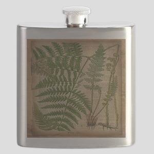 botanical fern leaves Flask