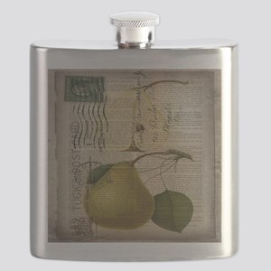 botanical vintage pear  Flask