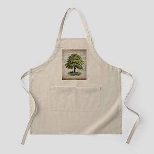 vintage oak tree Apron