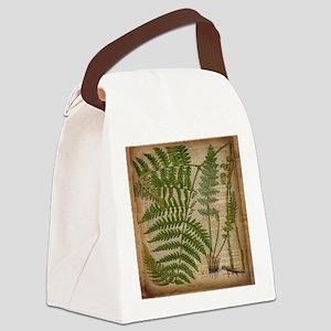 botanical fern leaves Canvas Lunch Bag