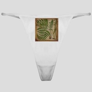 botanical fern leaves Classic Thong