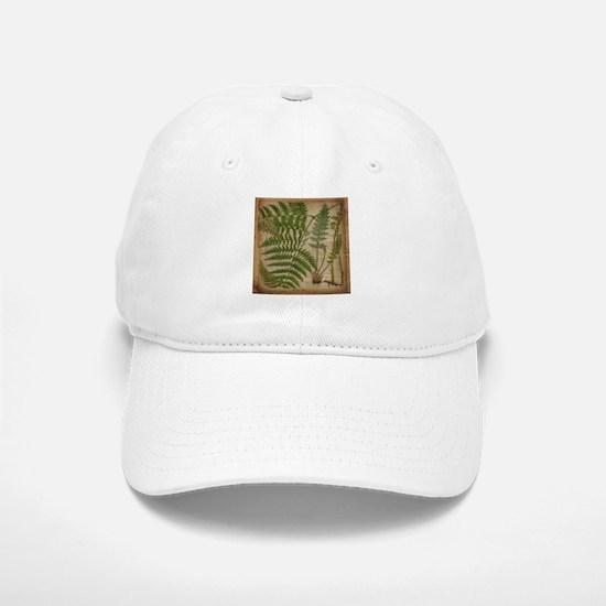 botanical fern leaves Baseball Baseball Cap