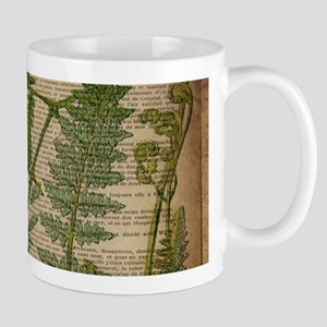 botanical fern leaves Mugs