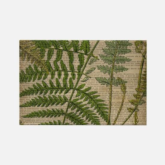 botanical fern leaves Magnets