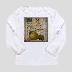 botanical vintage pear Long Sleeve T-Shirt