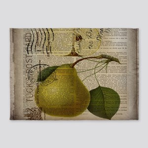 botanical vintage pear 5'x7'Area Rug
