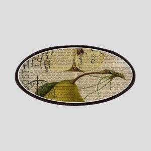 botanical vintage pear Patch