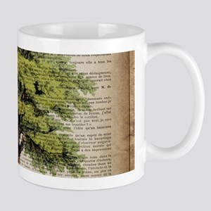 vintage oak tree Mugs