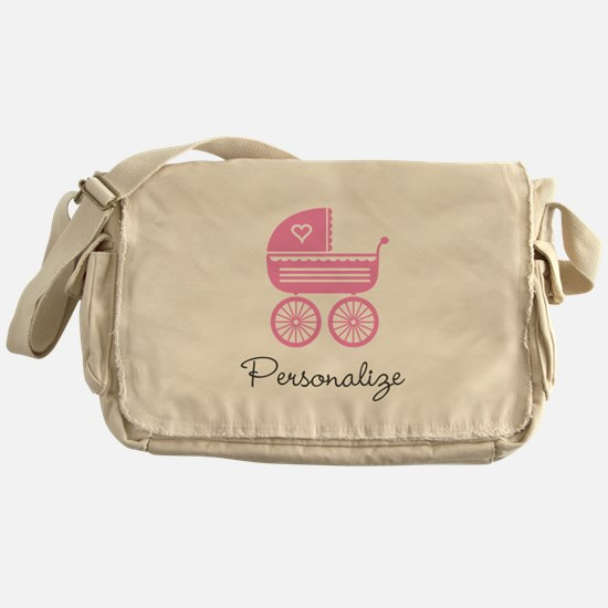 Personalized baby carriage Messenger Bag