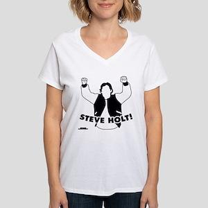 Steve Holt Women's V-Neck T-Shirt