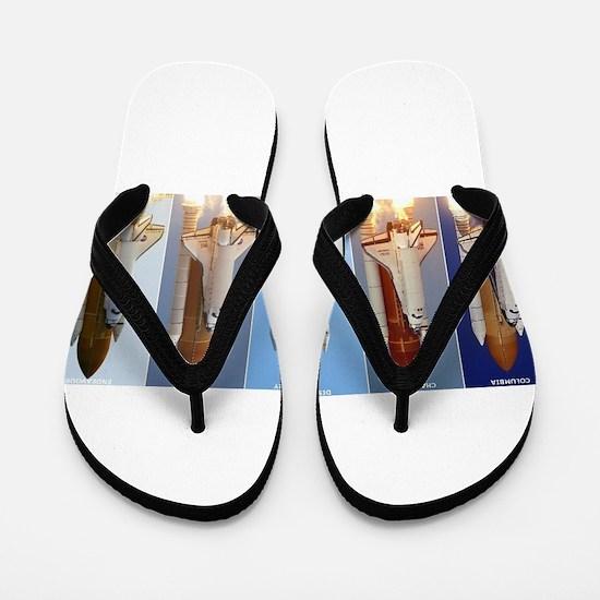 space shuttles Flip Flops