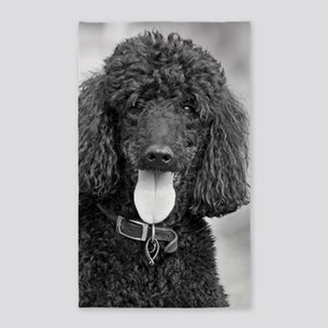 Black Poodle Area Rug