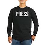 Press (white) Long Sleeve Dark T-Shirt